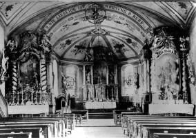 Alte Innenansicht der Andreaskirche, Sauerlach