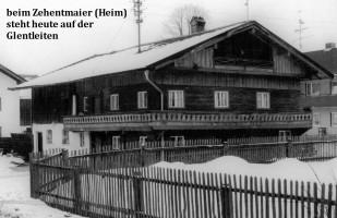 Zehentmaierhof, v.Aychstetter-Straße, abgebrochen 1973, jetzt auf Glentleiten