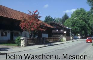 Beim Wascher, abgerissen 2014, und Mesner, Wolfratshausener Straße