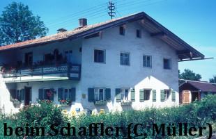 Beim Schaffler, Wolfratshausener Straße, abgebrannt Anfang der 90er Jahre