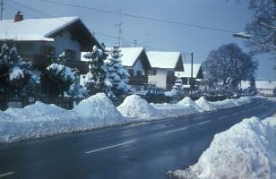 Münchener Straße, im Winter