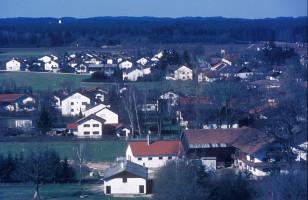 Blick nach Westen, im Hintergrund der Altkirchener Kirchturm, 1981