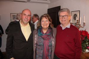 Bürgermeisterkandidat 2020 Babak Afshar mit Landrätin Annette Ganssmüller-Maluche und Altbürgermeister Gerald Bretfeld