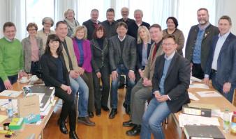 Die Vorsitzenden der SPD-Kreistagsfraktionen der MVV-Landkreise und weitere SPD-Vertreter