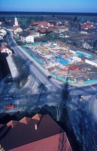 Baustelleneinrichtung auf dem Postanger, 1981
