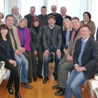 Die Vorsitzenden der SPD-Kreistagsfraktionen der MVV-Landkreise im Landratsamt München