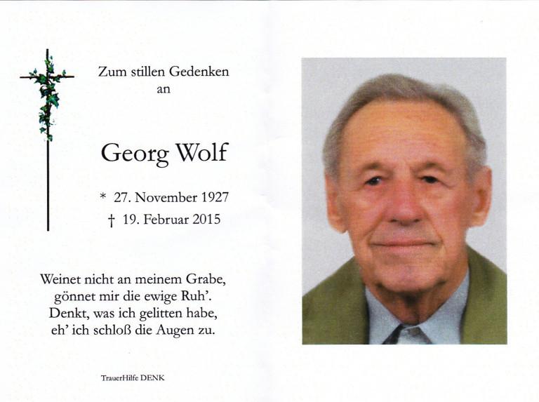 Georg Wolf Sterbebild